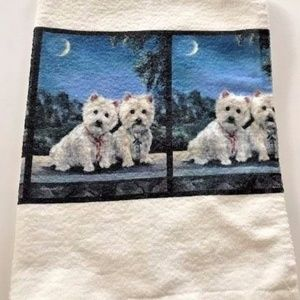 Other - Westie hand towel West Highland Terrier New USA